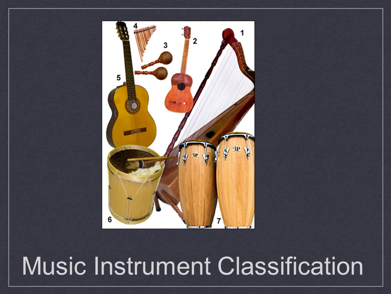 Music Instrument Classification