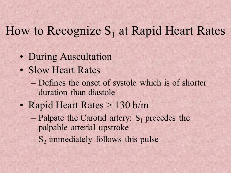 How to Recognize S1 at Rapid Heart Rates