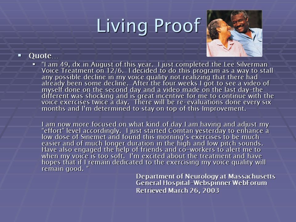 Living Proof Quote…