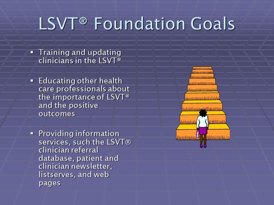 LSVT® Foundation Goals