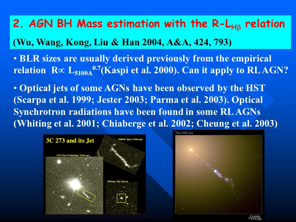 2. AGN BH Mass estimation with the R-LH relation