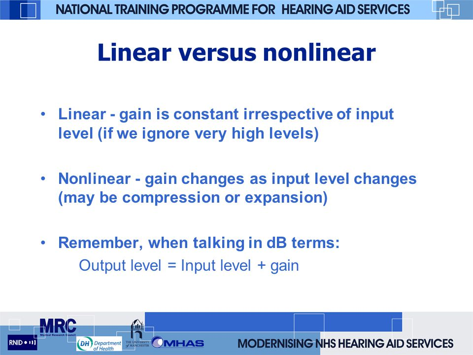 Linear versus nonlinear