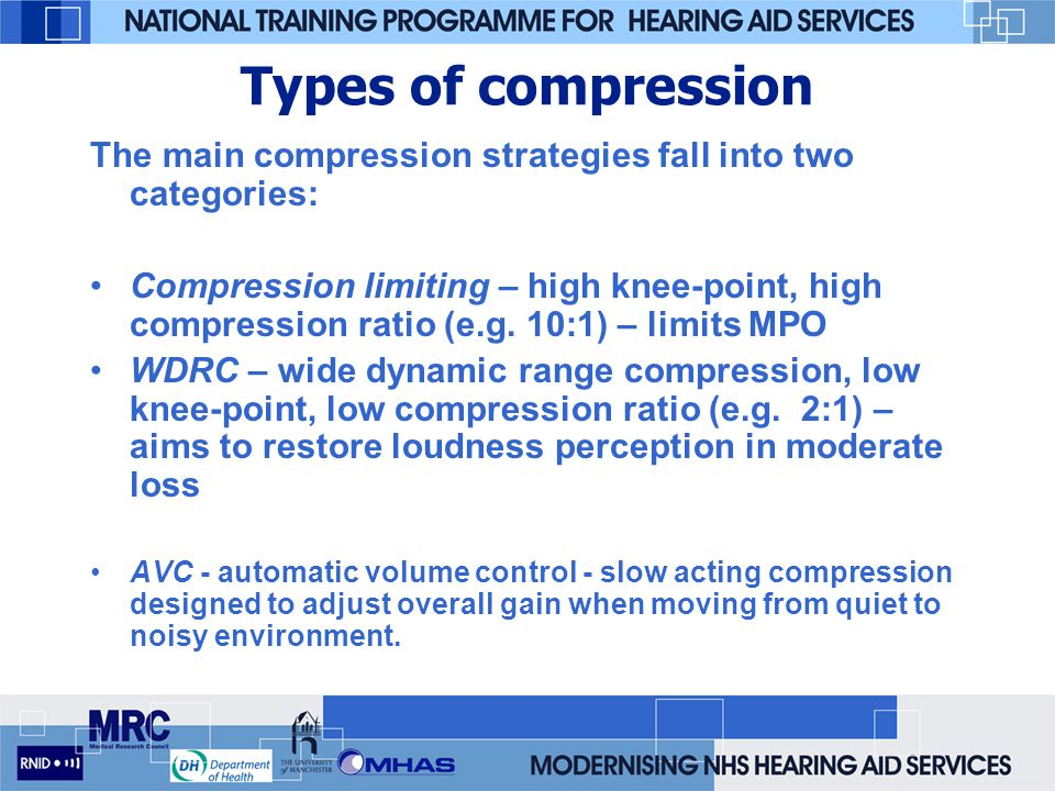 Types of compression The main compression strategies fall into two categories: