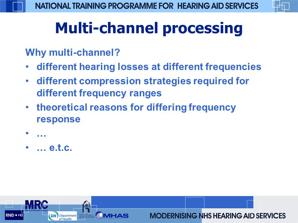 Multi-channel processing