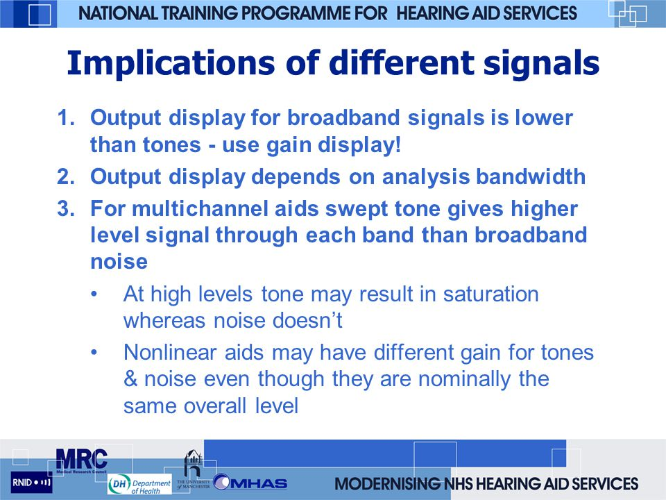Implications of different signals