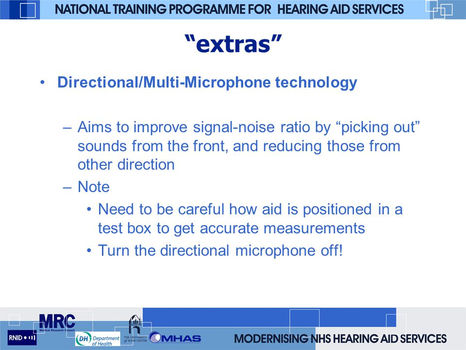 extras Directional/Multi-Microphone technology