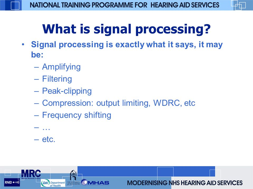 What is signal processing