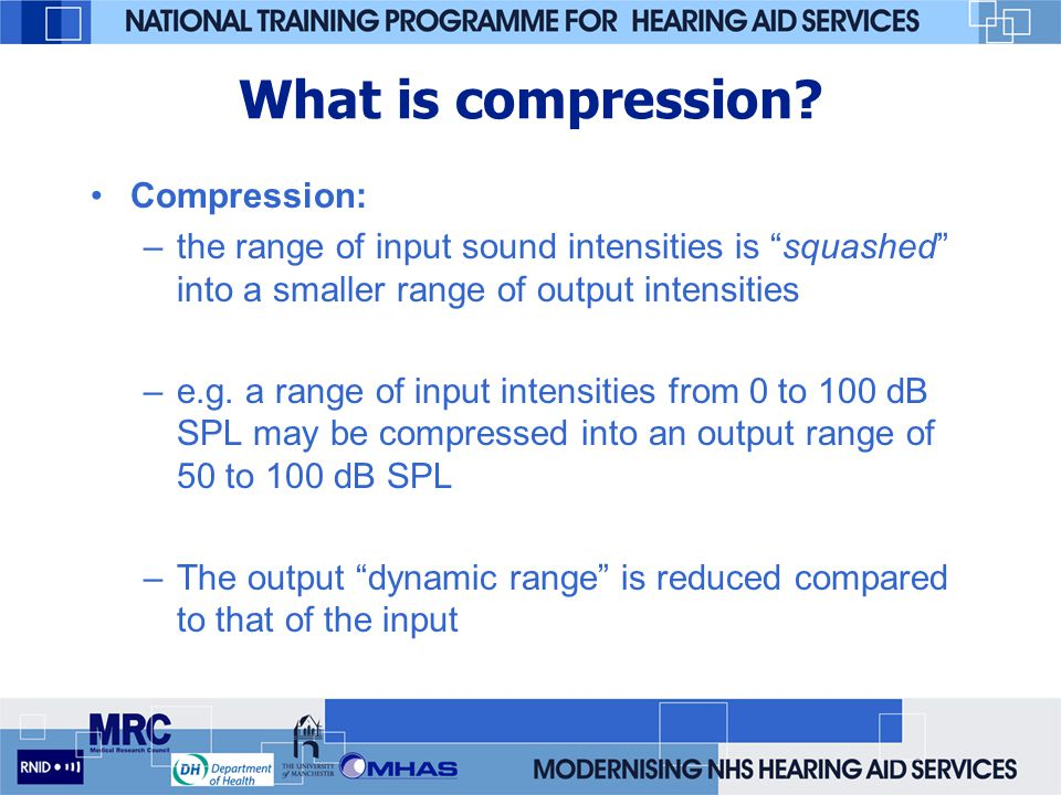 What is compression Compression: