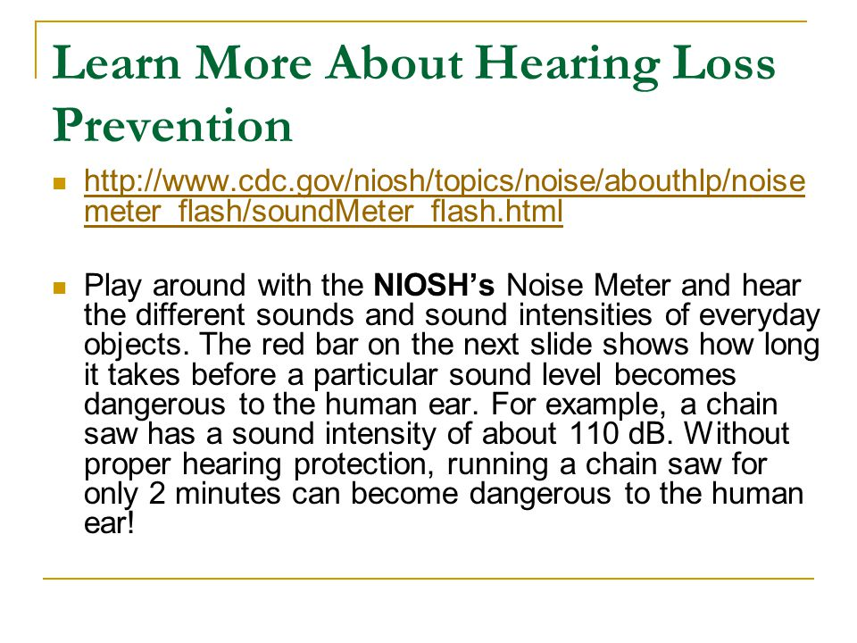 Learn More About Hearing Loss Prevention