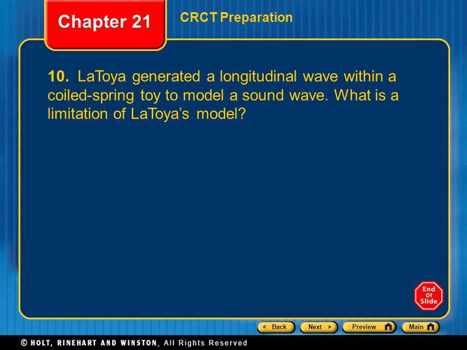 Chapter 21 CRCT Preparation.