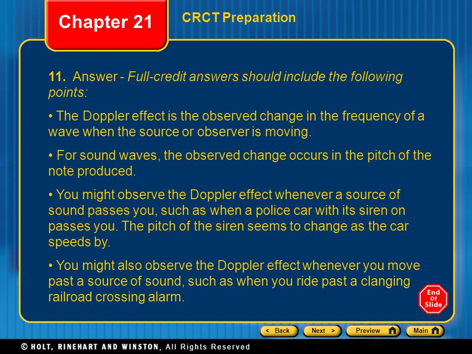 Chapter 21 CRCT Preparation
