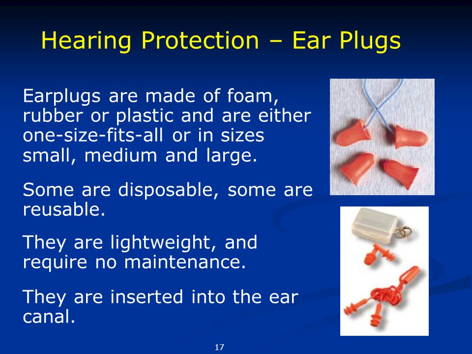 Hearing Protection – Ear Plugs