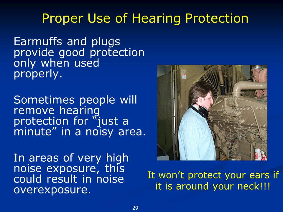 It won't protect your ears if it is around your neck!!!