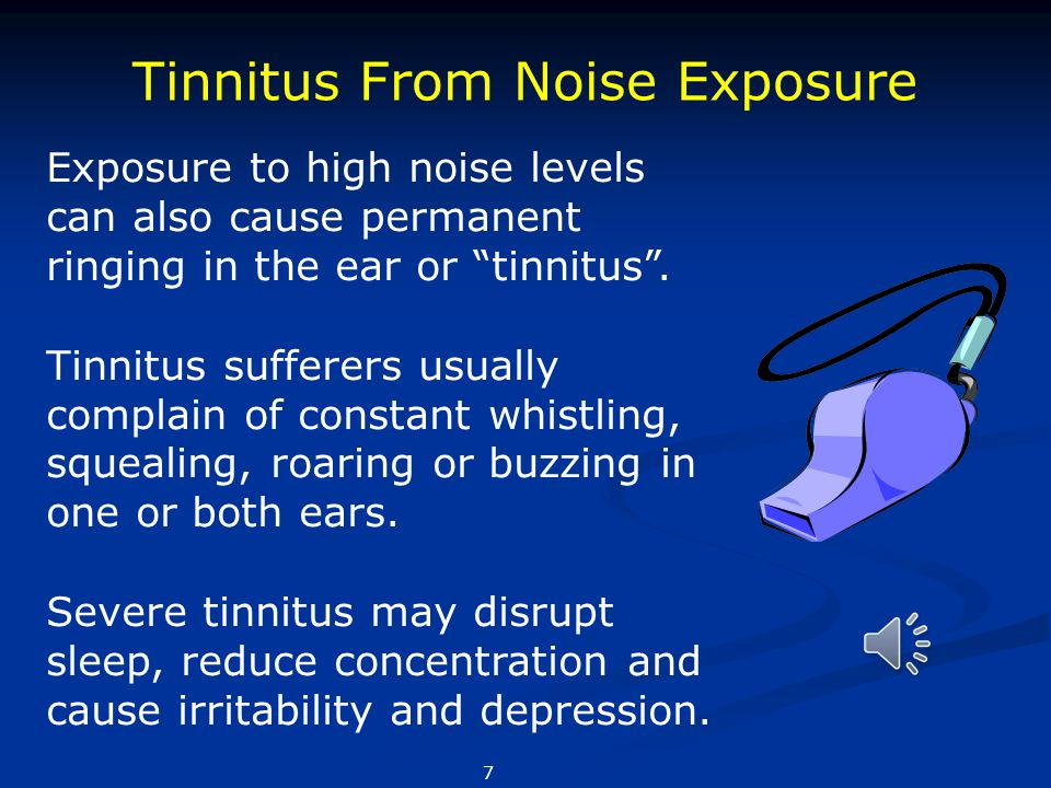 Tinnitus From Noise Exposure