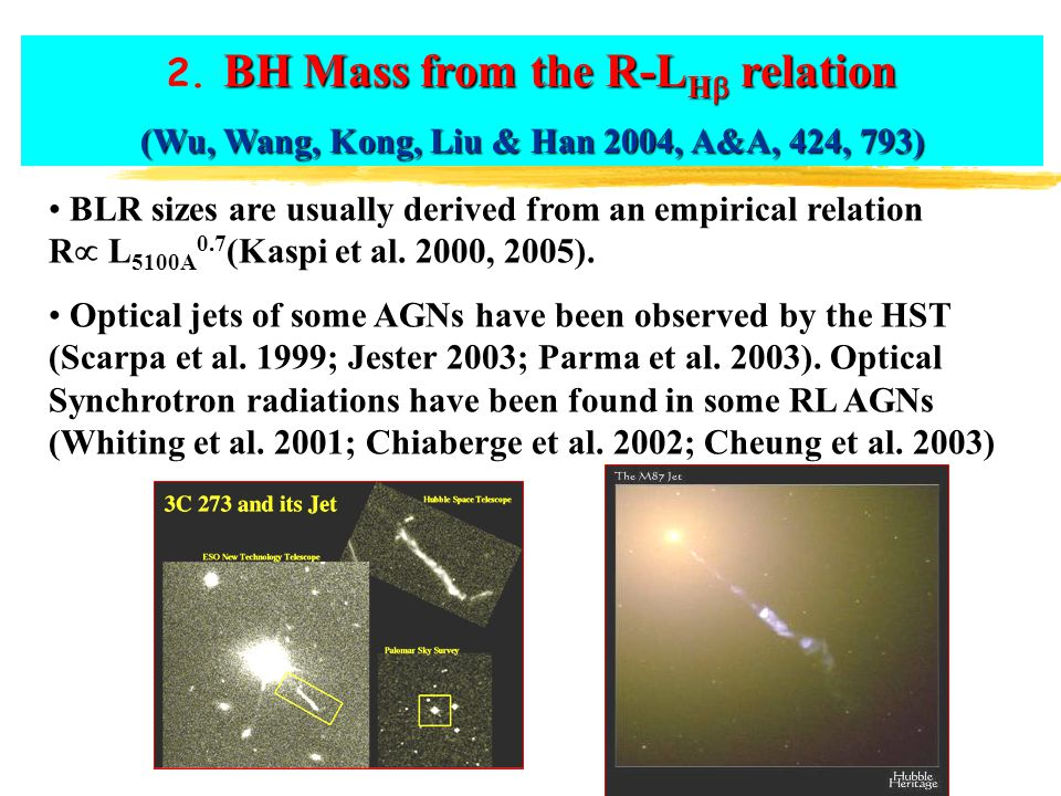 2. BH Mass from the R-LH relation