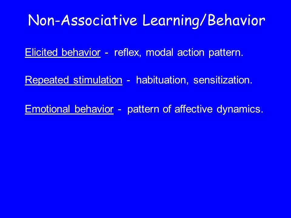 Non-Associative Learning/Behavior