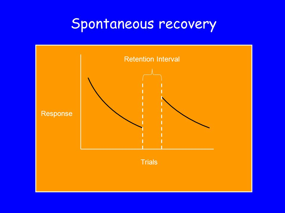 Spontaneous recovery Retention Interval Response Trials