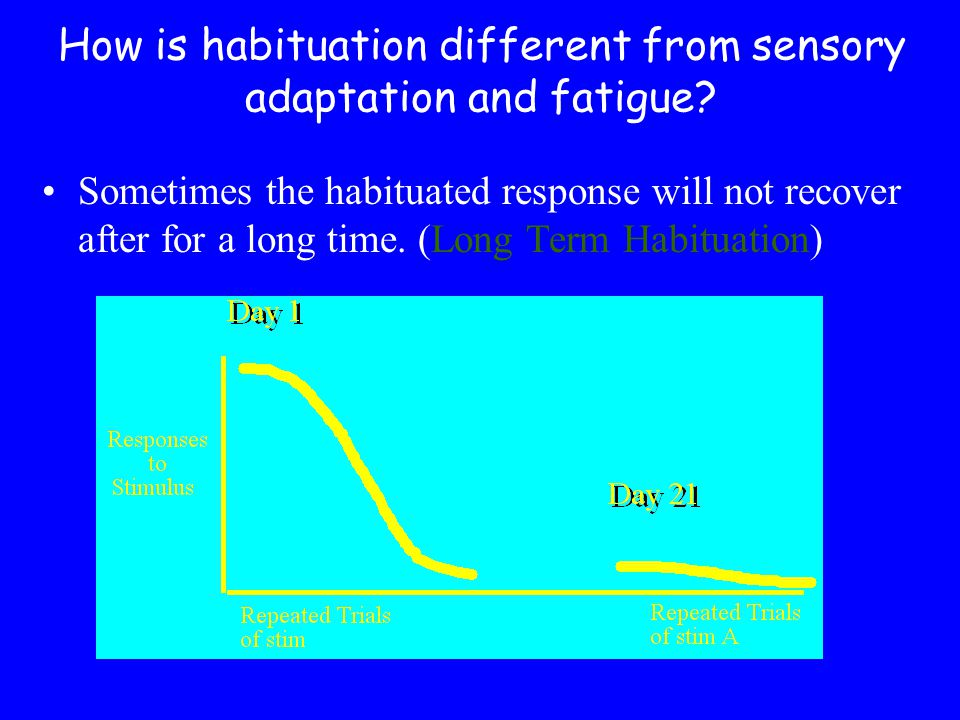 How is habituation different from sensory adaptation and fatigue