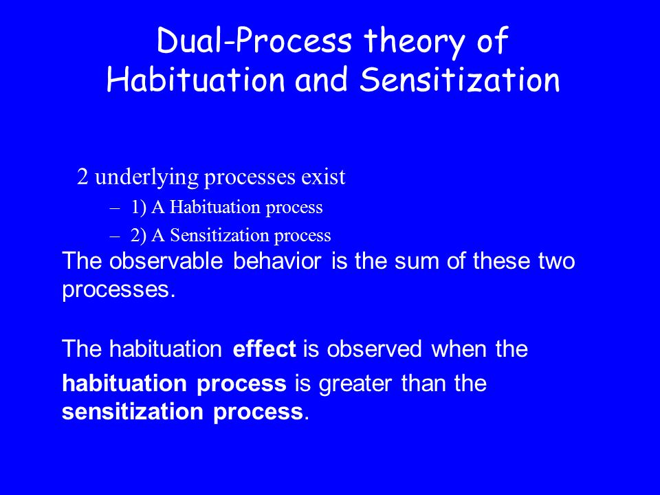 Dual-Process theory of Habituation and Sensitization