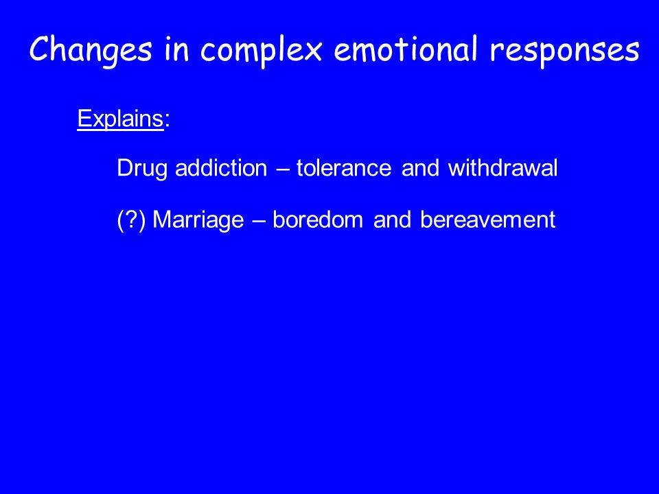Changes in complex emotional responses