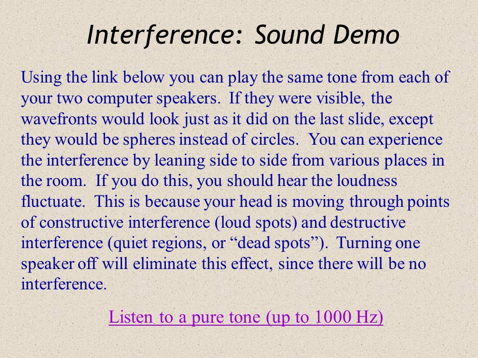 Interference: Sound Demo