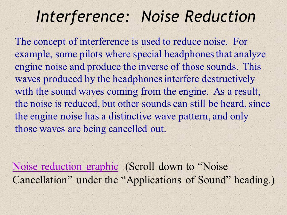 Interference: Noise Reduction