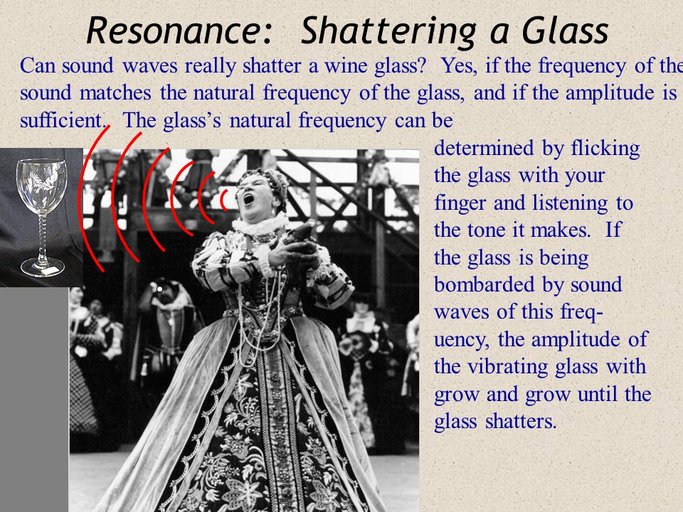 Resonance: Shattering a Glass