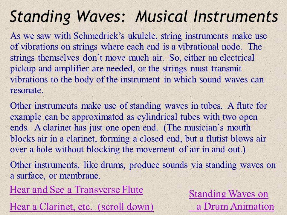 Standing Waves: Musical Instruments