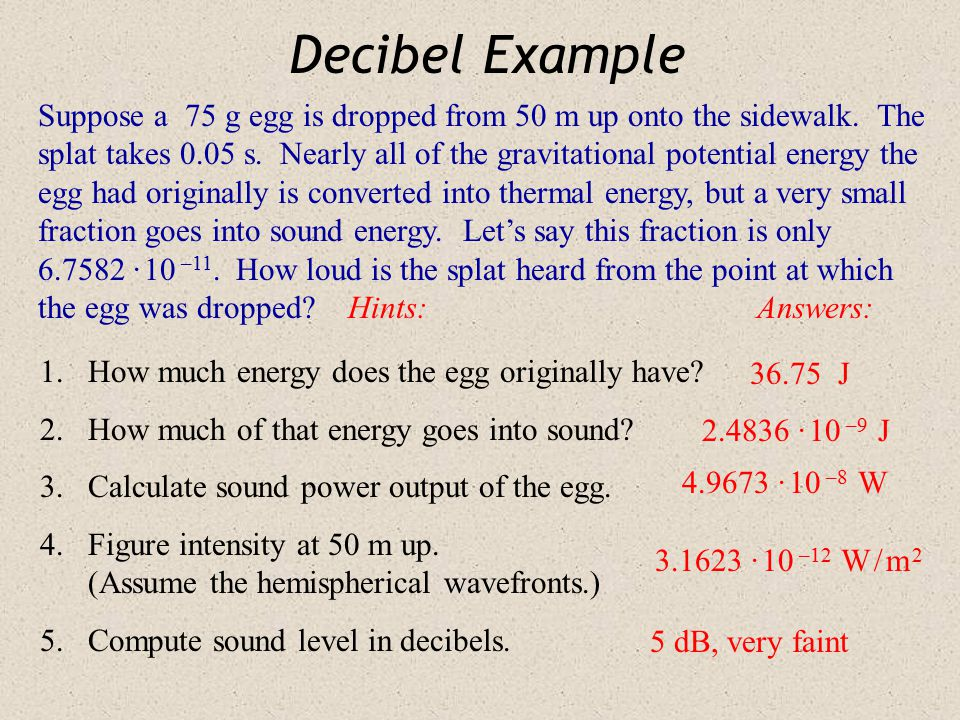 Decibel Example