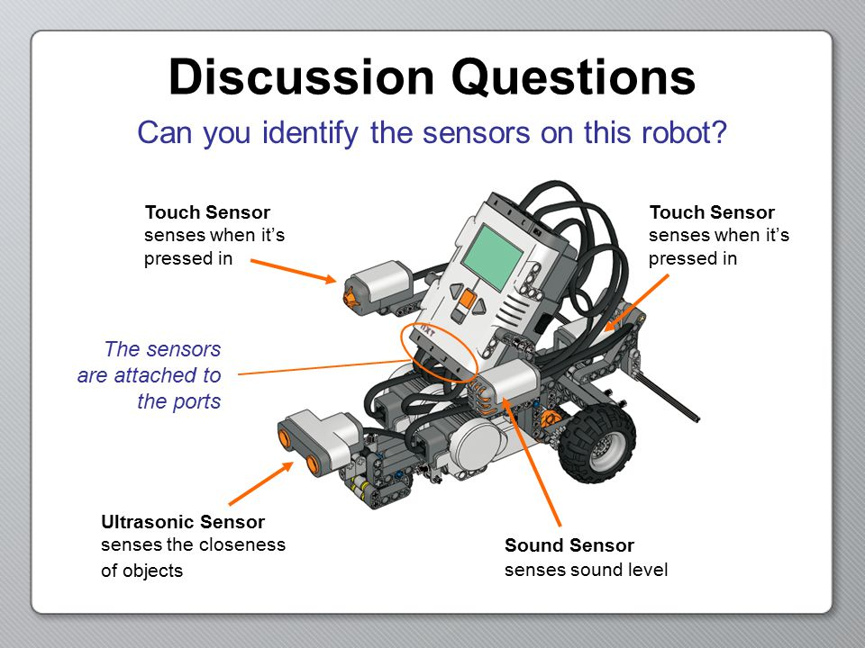Can you identify the sensors on this robot