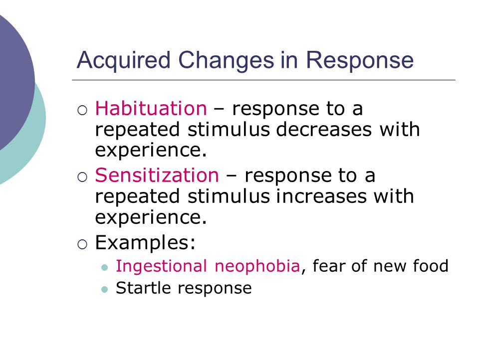 Acquired Changes in Response