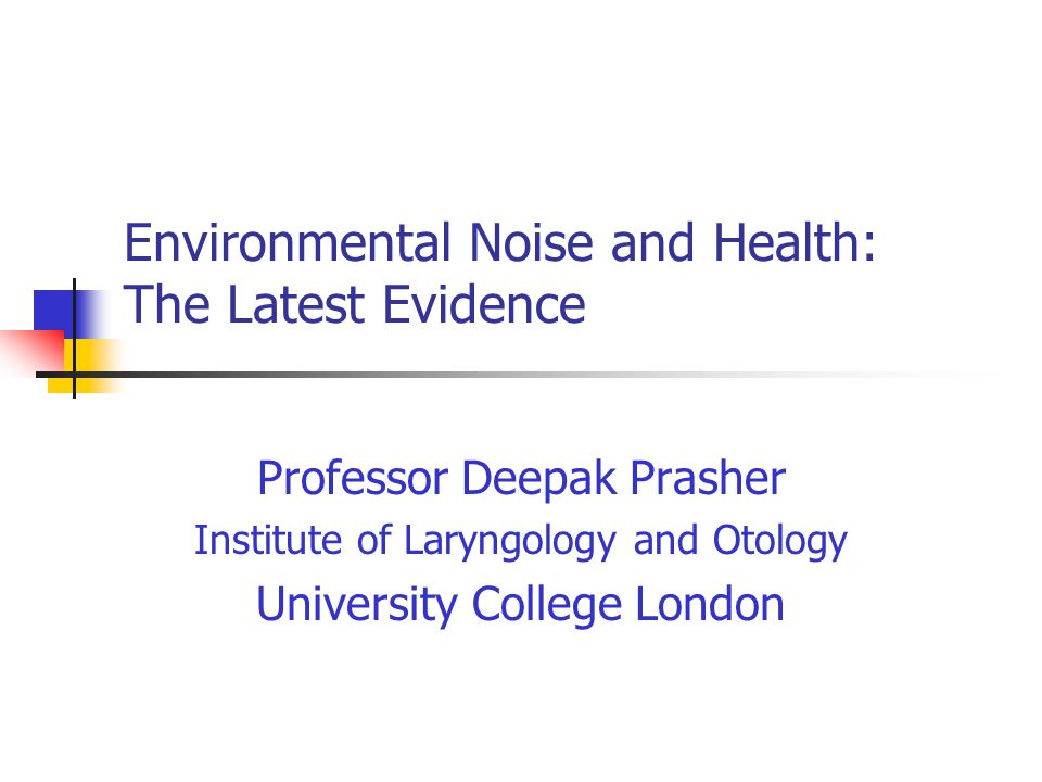 Environmental Noise and Health: The Latest Evidence