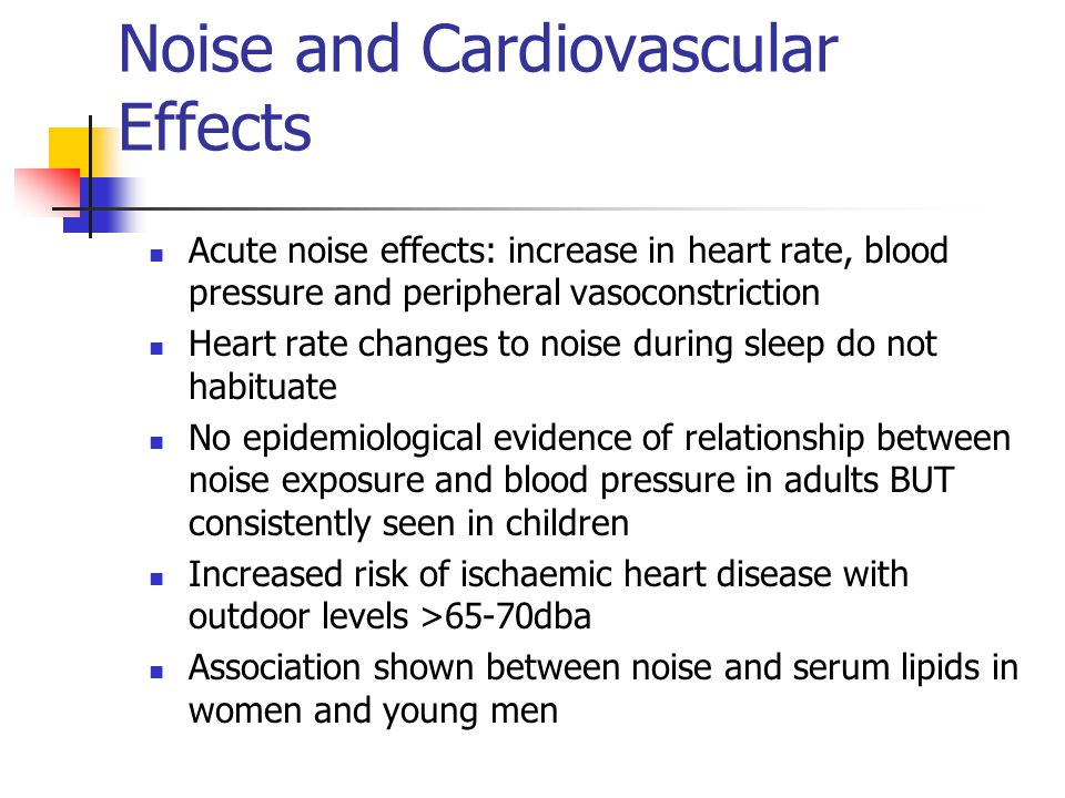 Noise and Cardiovascular Effects