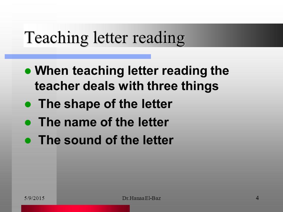 Teaching letter reading