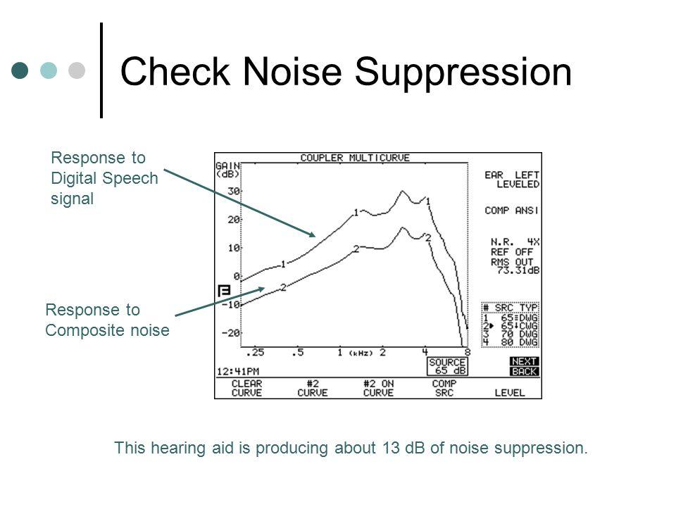 Check Noise Suppression