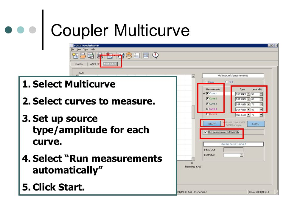 Coupler Multicurve Select Multicurve Select curves to measure.