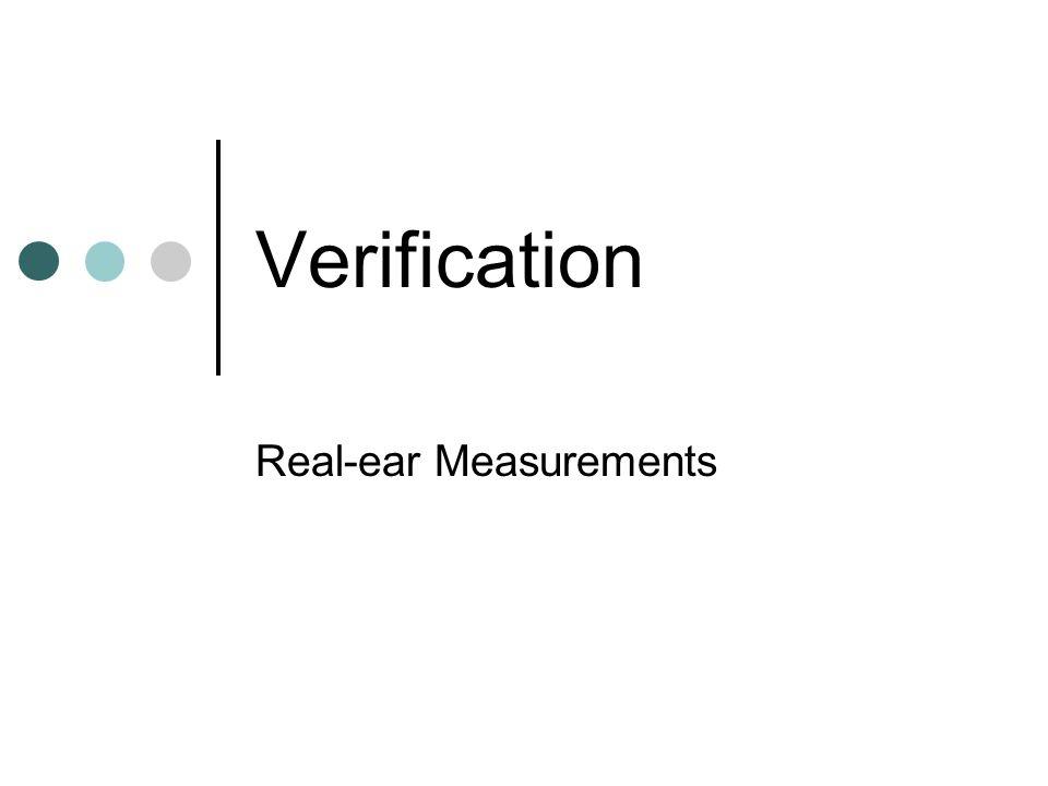 Real-ear Measurements