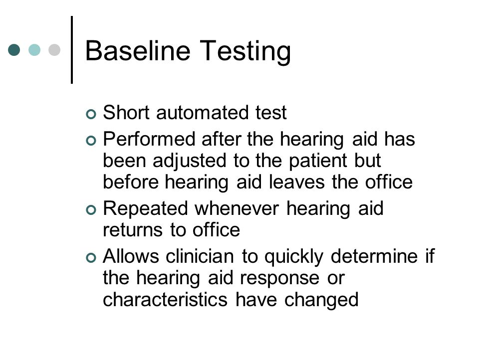 Baseline Testing Short automated test