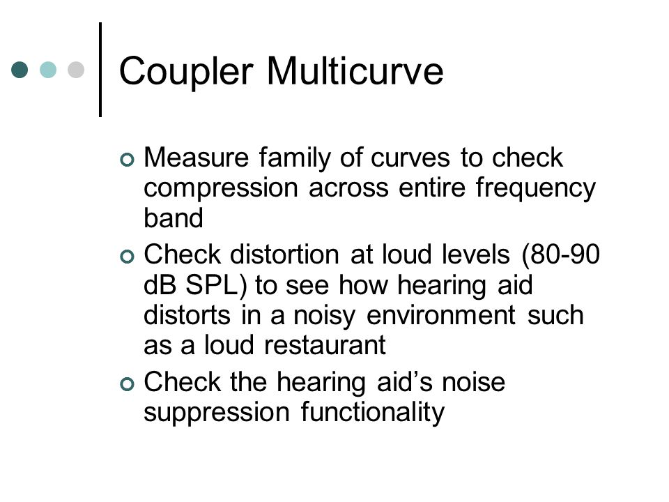 Coupler Multicurve Measure family of curves to check compression across entire frequency band.