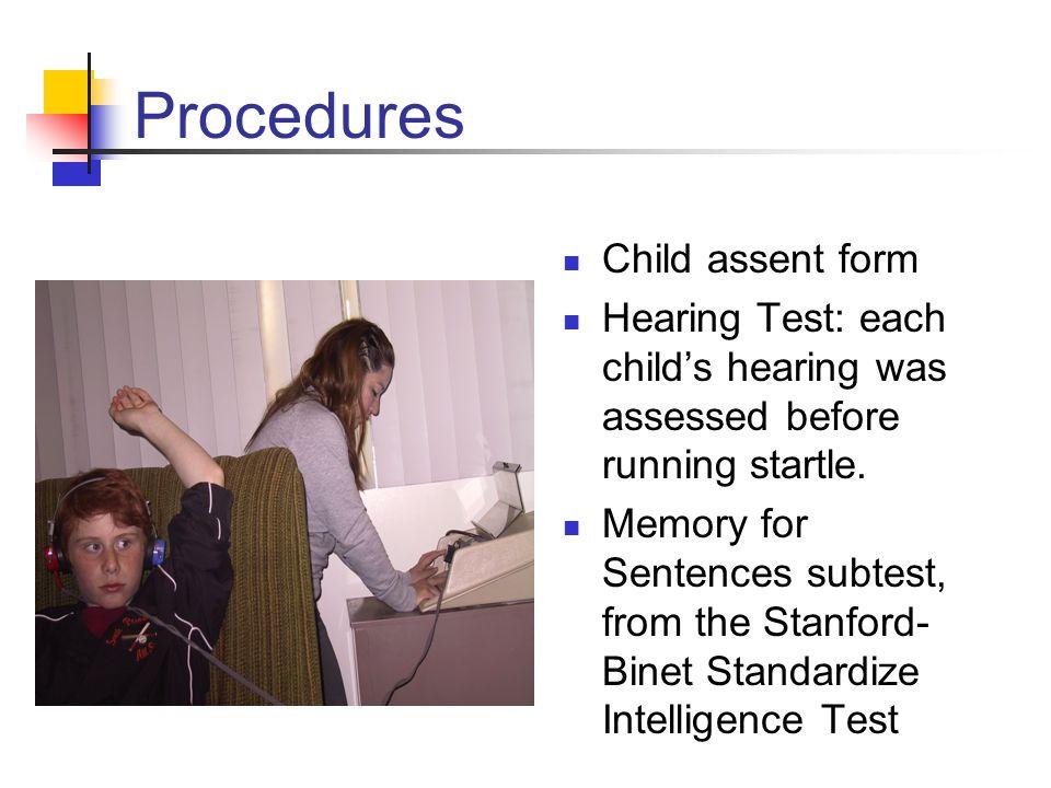 Procedures Child assent form