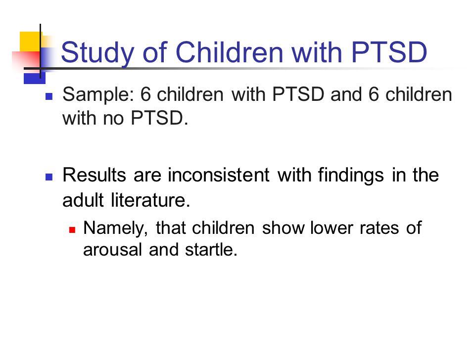 Study of Children with PTSD