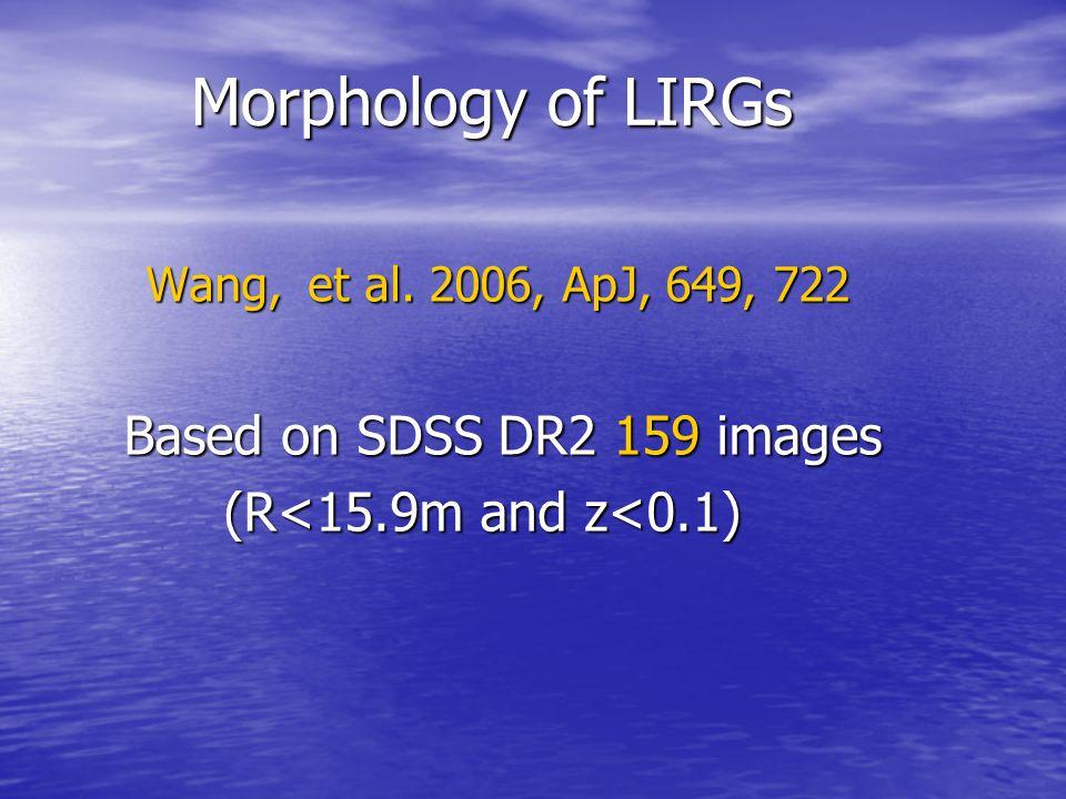 Morphology of LIRGs Based on SDSS DR2 159 images