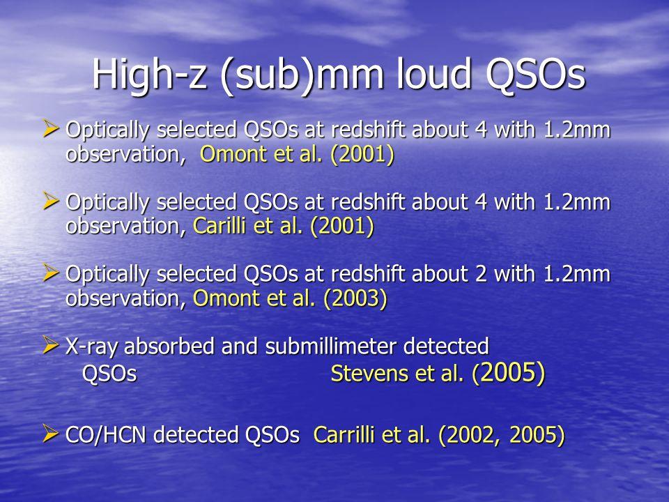 High-z (sub)mm loud QSOs