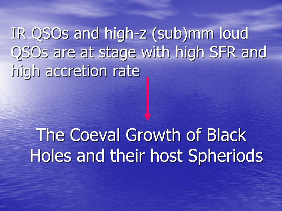 The Coeval Growth of Black Holes and their host Spheriods