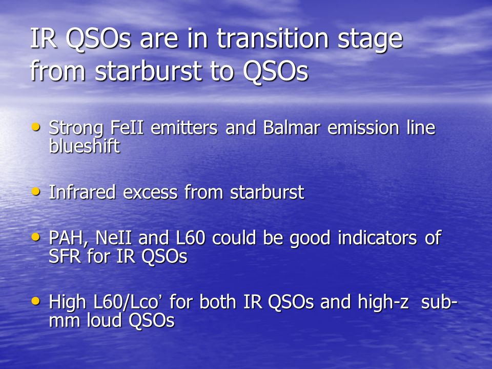 IR QSOs are in transition stage from starburst to QSOs