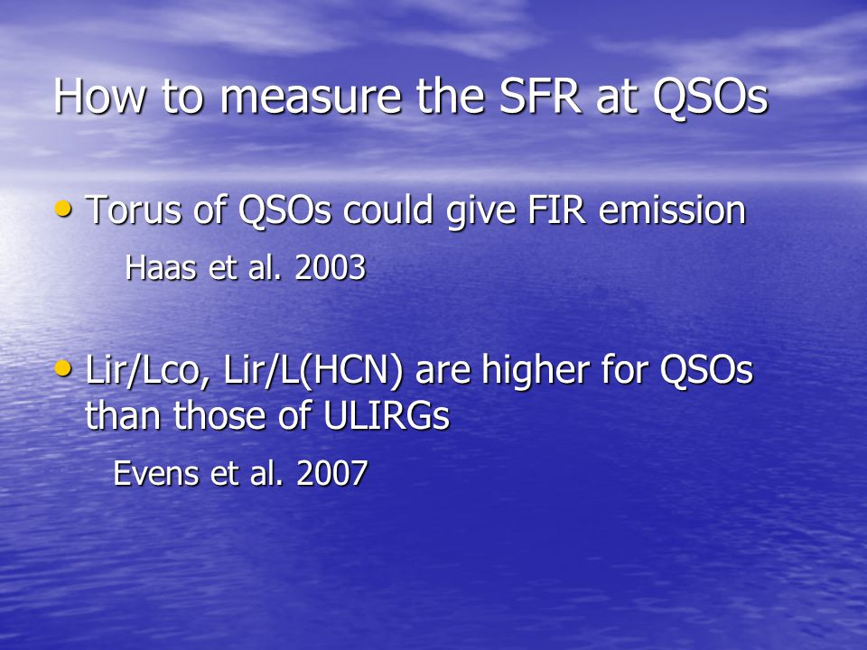 How to measure the SFR at QSOs
