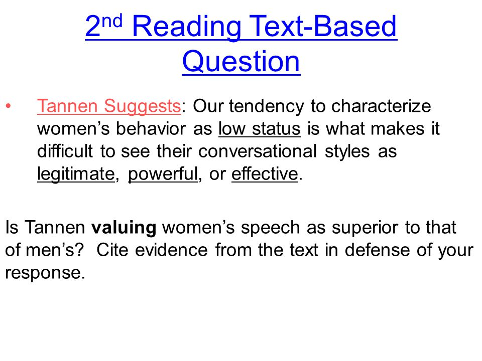 2nd Reading Text-Based Question