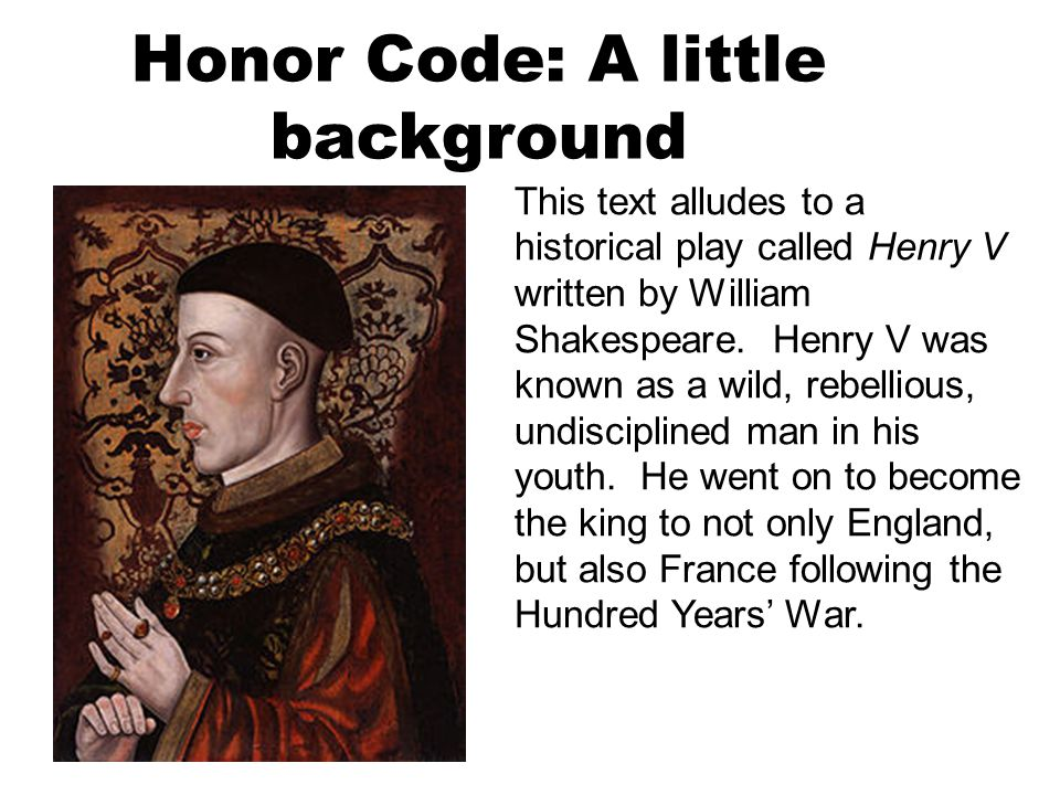 Honor Code: A little background