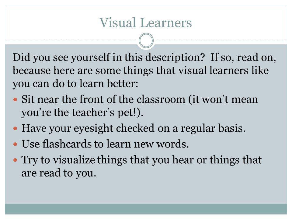 Visual Learners