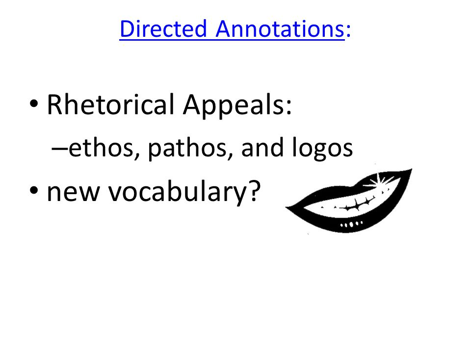 Directed Annotations: